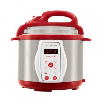Panela de Pressão Elétrica Sabore 4L PAN900 Vermelho 127V Cadence