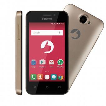 Smartphone Positivo ONE S420 Dual Dourado