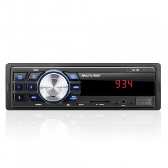Som Automotivo Multilaser One Mp3 Player Entradas USB SD E Aux P2 P3213