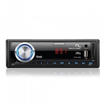 Som Automotivo Multilaser Wave Fiesta com 7 Cores de LED Rádio FM Conexão USB e SD P3265