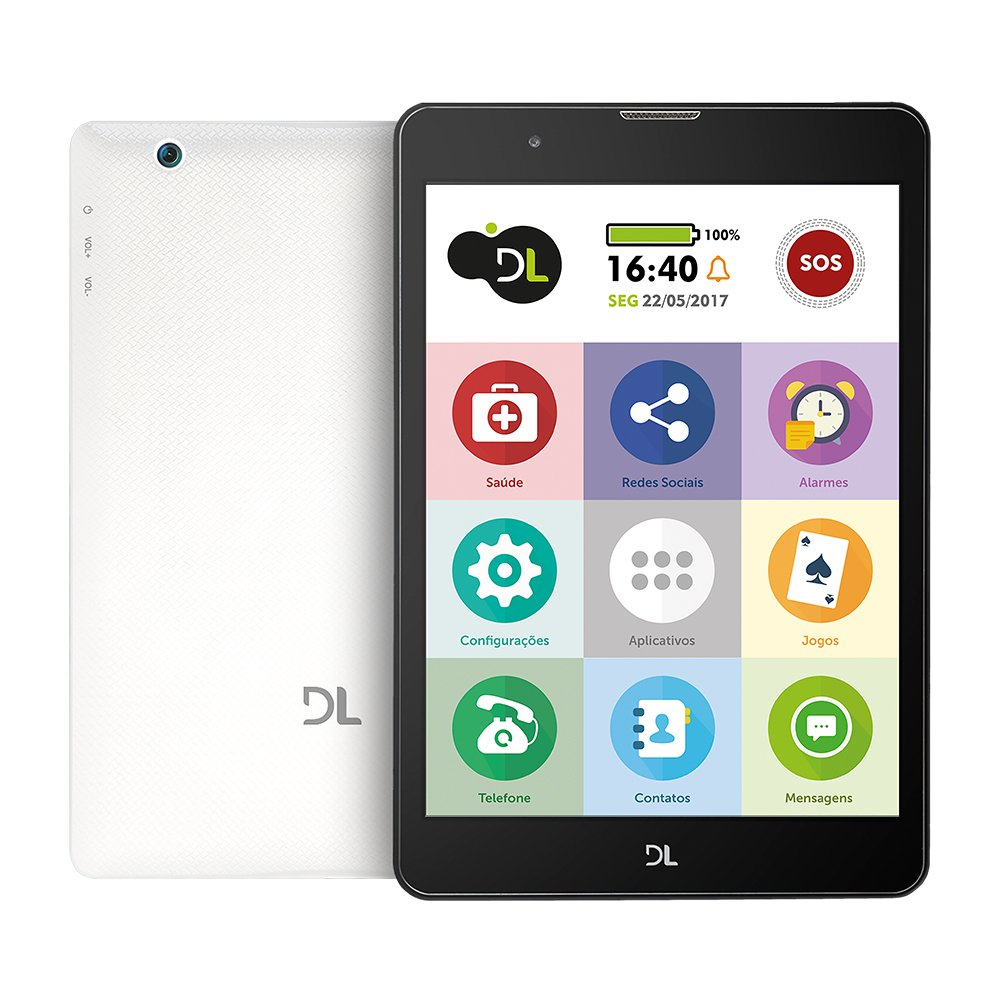 Tablet DL Tabfácil 3G Bluetooth Branco TX385