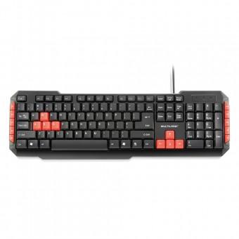 Teclado Multimídia Multilaser Gamer Red Keys USB TC160
