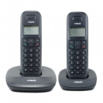 Telefone Sem Fio Digital até 5 Ramais com Id de Chamadas + 1 Ramal VT600-MRD2 Preto Vtech