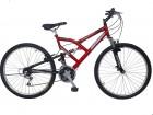 Bicicleta South Full Suspension Aro 26, 18v, Vermelha