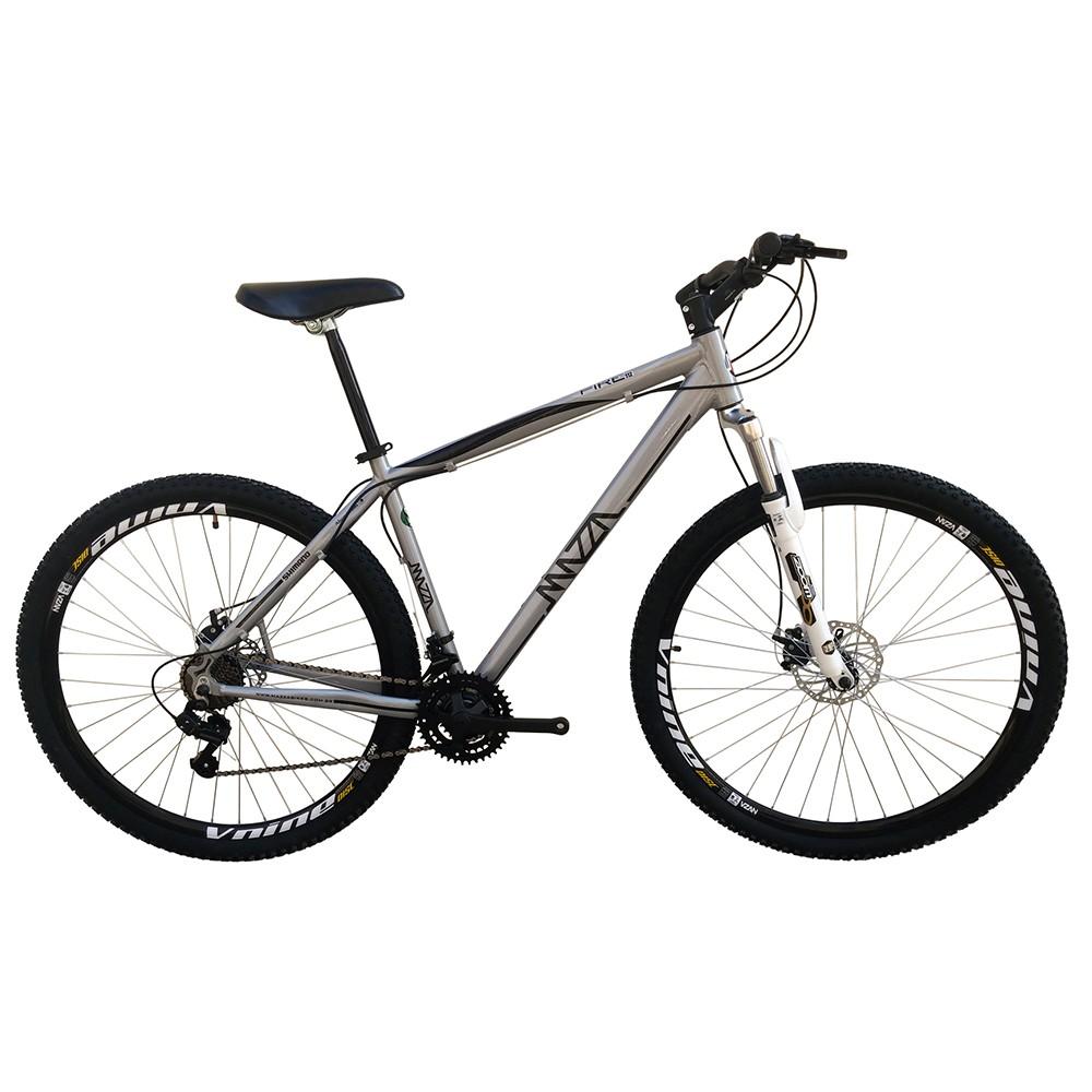 Bicicleta Mazza Fire 112 Disc H T21 Aro 26 Susp. Dianteira 27 Marchas - Cinza