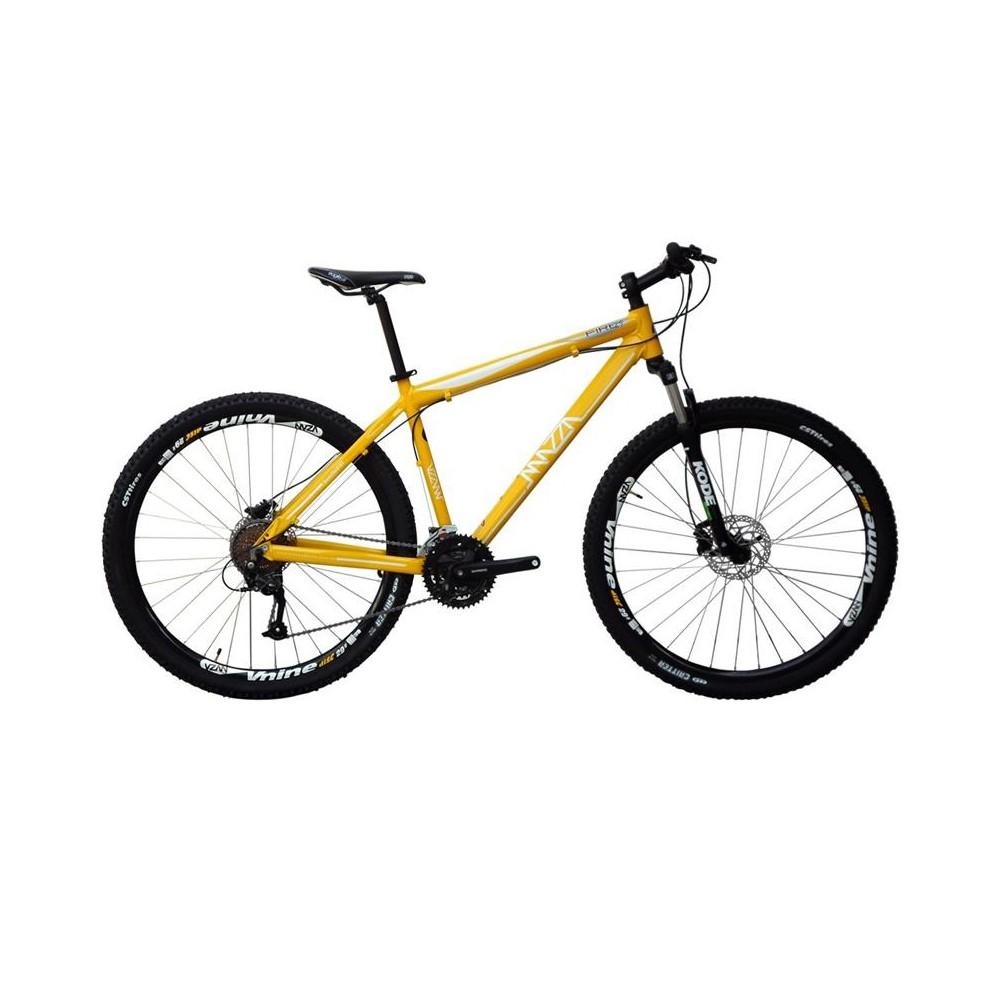 Bicicleta Mazza Fire 112 Disc H T19 Aro 29 Susp. Dianteira 27 Marchas - Amarelo