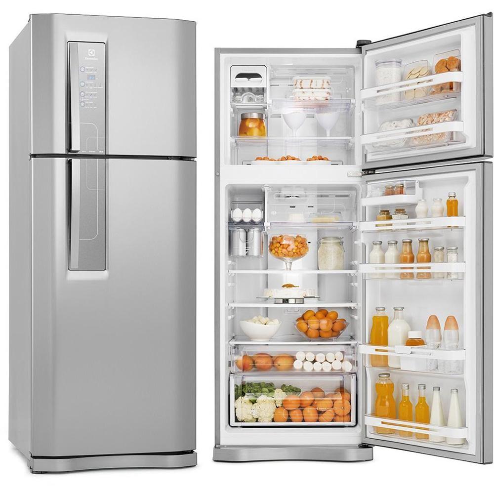 Refrigerador electrolux 2 portas 427 litros inox frost for Geladeira 2 portas inox
