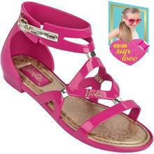 Sandália Infantil Barbie Glamour Rasteira Feminina