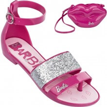 Sandália Infantil Barbie Pop Glam Glitter Feminina + Brinde