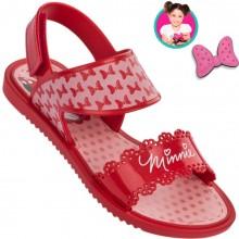 Sandália Infantil Disney Minnie Fashion Feminina + Brinde