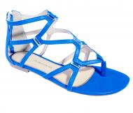 Sandália Rasteira Ana Paula Gladiadora 7088 - Azul