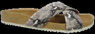 Chinelo Birken Lilly's Closet Rasteiro 4701233 Branco/Preto