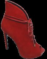 Peep Toe Abotinado Lilly's Closet 4701498 Vermelho