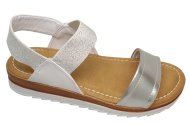 Sandália Feminina Flatform Comfortflex 1760404 Brilho