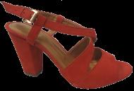 Sandália Marlinês 4238A Salto Bloco Vermelho