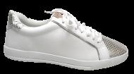 Sapatênis Feminino Flatform Comfortflex 1659402 branco/prata