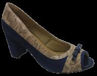 Sapato Peep Toe Di Mariotti 8082334 Numeração Grande