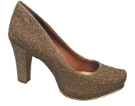 Sapato Scarpin Brilho Dakota B8502 Meia Pata