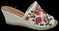 Tamanco Anabela Espadrille Floral Valentina 500158