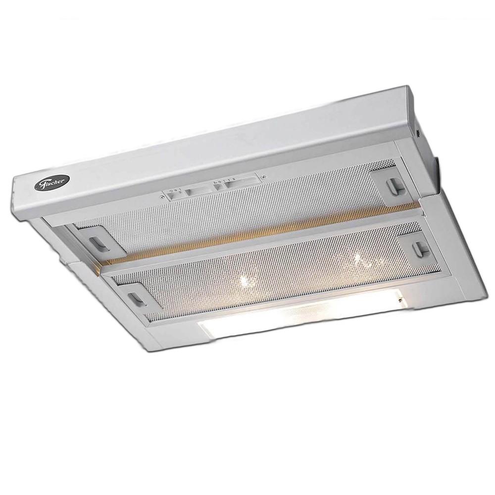 7d7658916 O Depurador de Embutir Fischer Slim pode ser usado tanto como exaustor  quanto como filtrador. Funciona em 3 velocidades e tem frontal em aço inox  escovado e ...