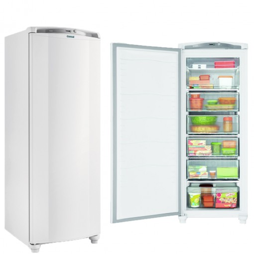 Freezer Consul 1 Porta Vertical 231 Litros Branco Cycle Defrost