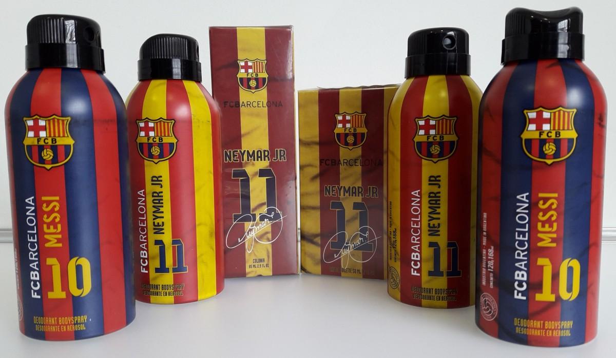 Kit Com 4 Desodorantes + 2 Perfumes Neymar Jr e Messi - FC Barcelona