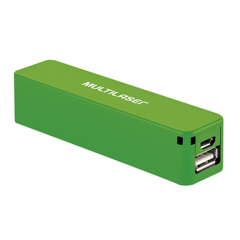 Carregador smartogo Power Bank Verde - Multilaser