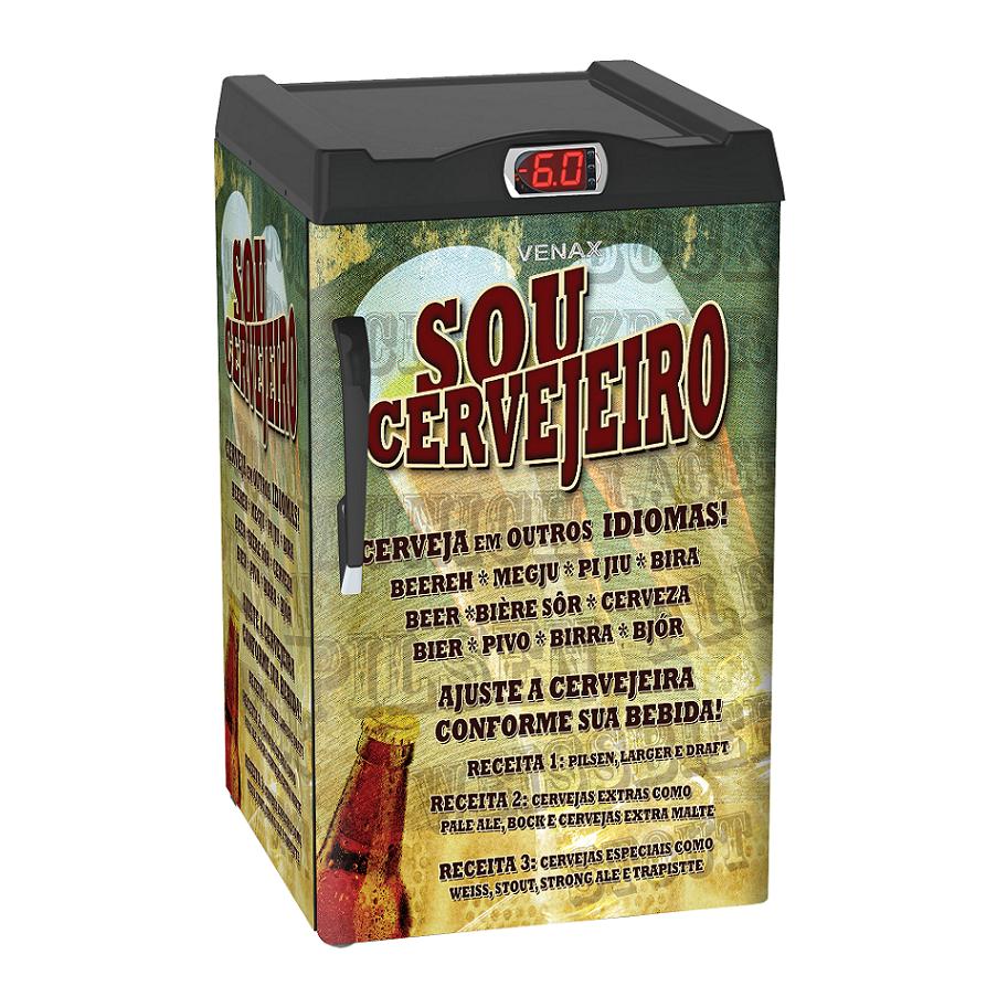 Cervejeira 1 Porta EXPM100 82 Litros Adesivado Sou Cervejeiro 220v - Venax