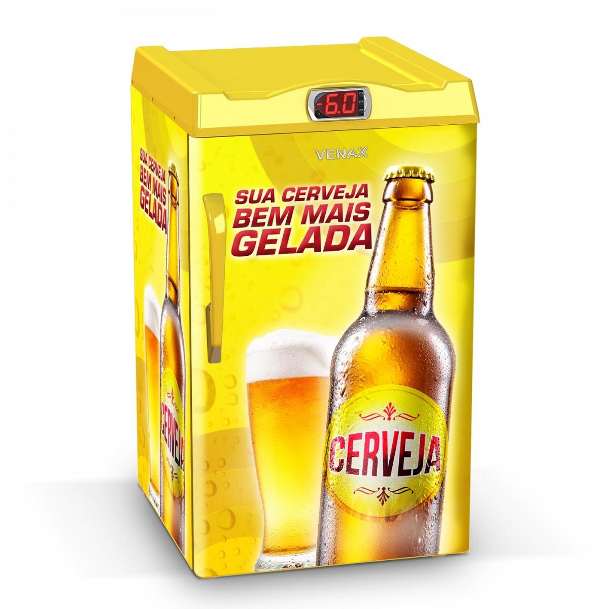 Cervejeira 1 Porta EXPM100 82 Litros Adesivado Sua Cerveja 127v - Venax