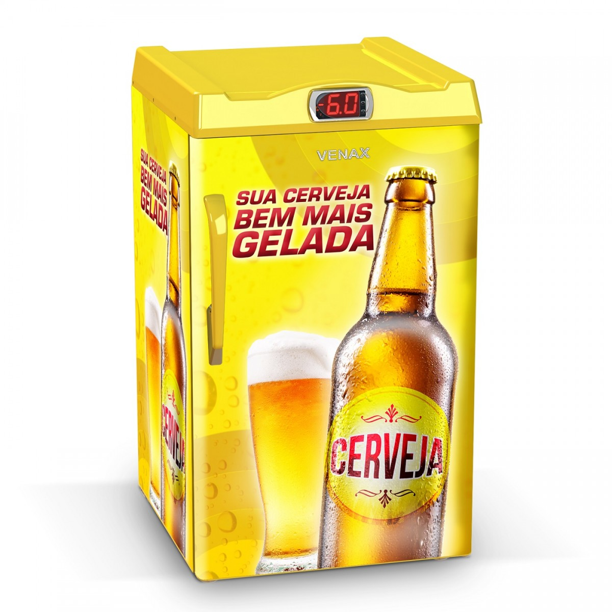 Cervejeira 1 Porta EXPM100 82 Litros Adesivado Sua Cerveja 220v - Venax