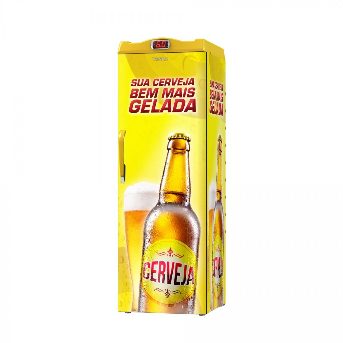 Cervejeira 1 Porta EXPM200 209 Litros Adesivado Sua Cerveja 127v - Venax