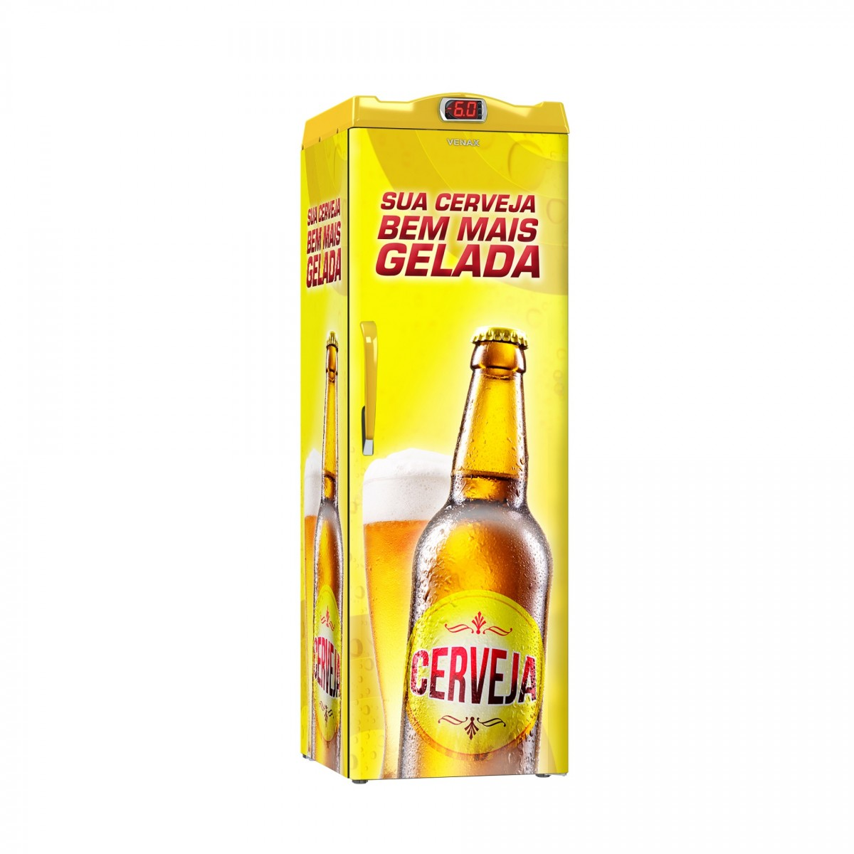 Cervejeira 1 Porta EXPM200 209 litros Adesivado Sua Cerveja 220v - Venax