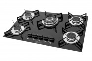 Cooktop 5 Queimadores Tripla Chama - Preto - Cromatto
