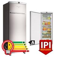 Freezer Brastemp 1 porta vertical 228 Litros Inox 220v