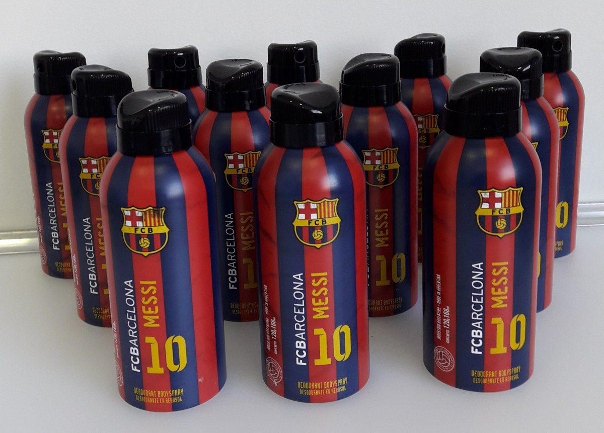 Kit com 12 Desodorantes Messi - FC Barcelona