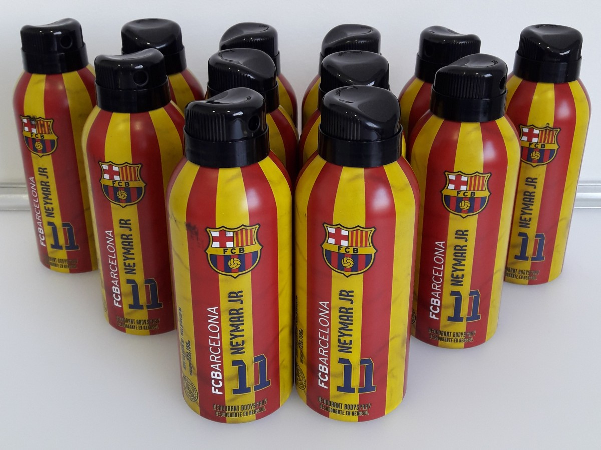 Kit com 12 Desodorantes Neymar Jr - FC Barcelona
