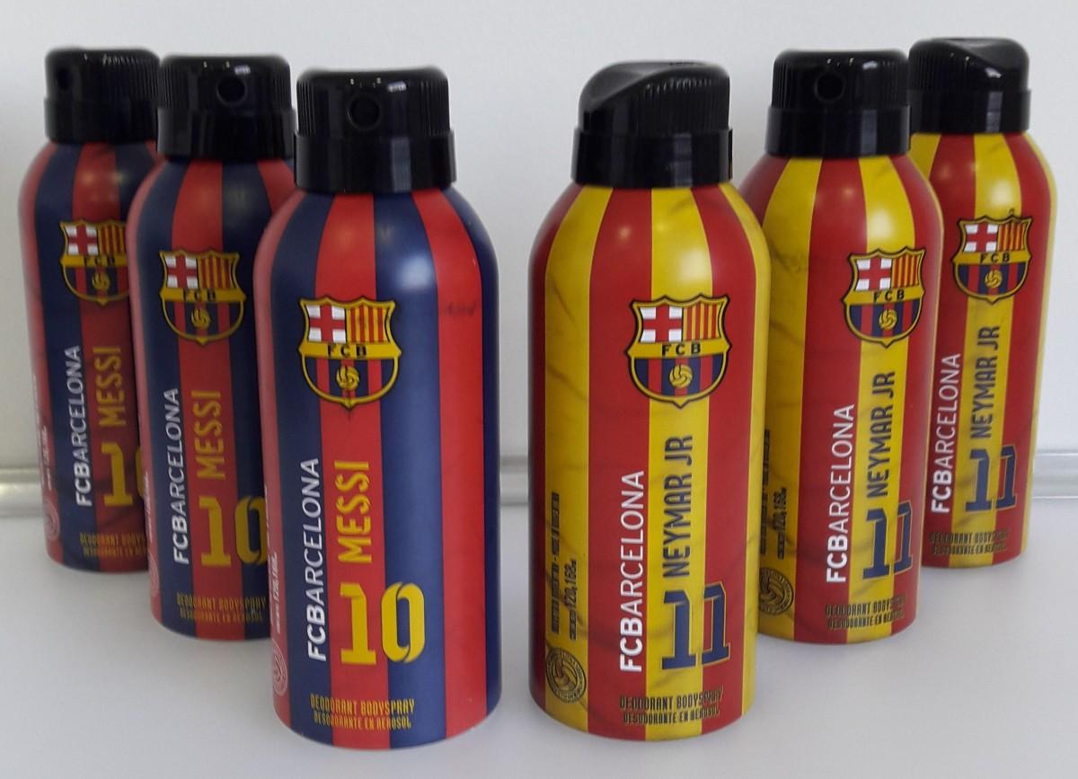 Kit com 3 Desodorantes Messi + 3 Desodorantes Neymar Jr - FC Barcelona