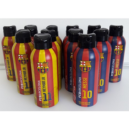 Kit com 6 Desodorantes Messi + 6 Desodorantes Neymar Jr - FC Barcelona