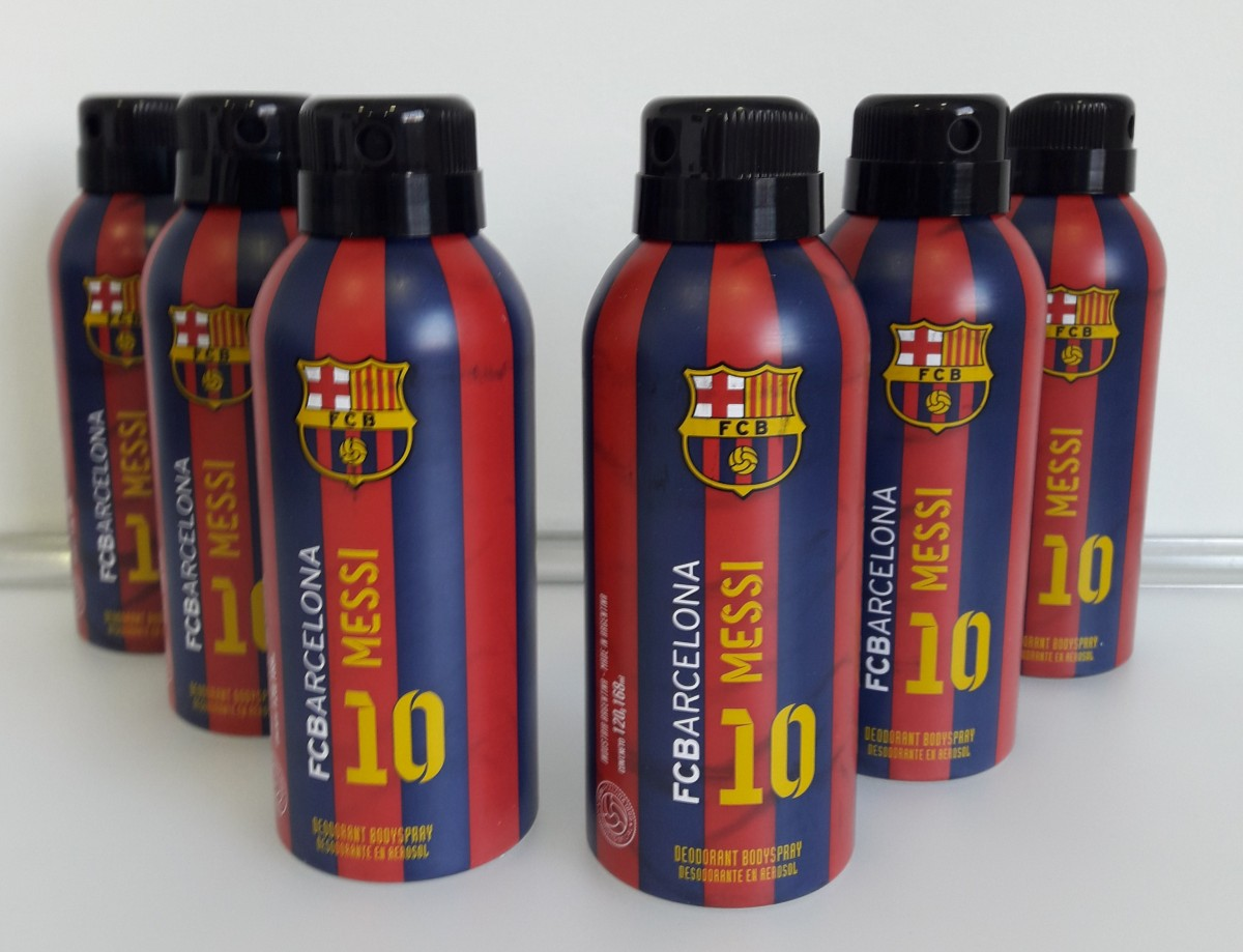 Kit com 6 Desodorantes Messi - FC Barcelona