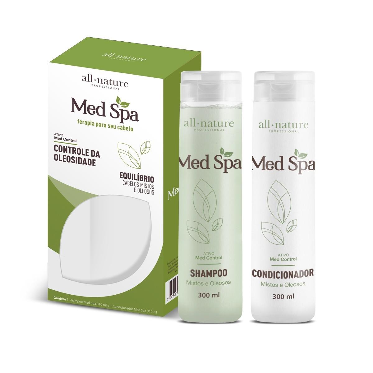 Kit Manutenção Med Spa Shampoo e Condicionador 310ml - All Nature