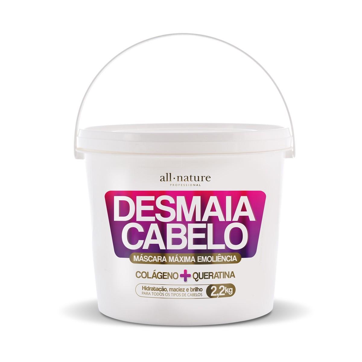 Máscara Desmaia Cabelo 2,2 Kg Colágeno+Queratina - All Nature