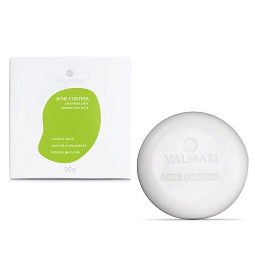 Sabonete Facial Pele Oleosa com Acne 90 g - Acne Control - Valmari