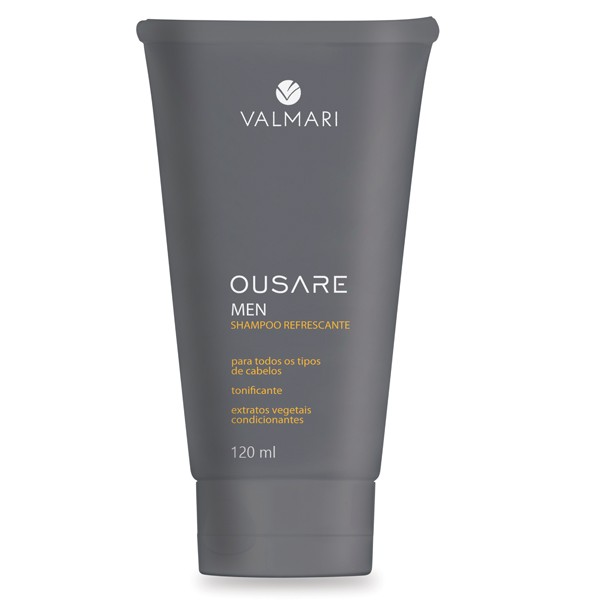 Shampoo Refrescante 120ml - Ousare Men - Valmari