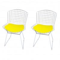 Cadeira Bertoia Cromada 2 Unidades - Elare