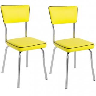 Kit 2 pçs Cadeira Retrô Cromada CP2030 Plus - Pozza