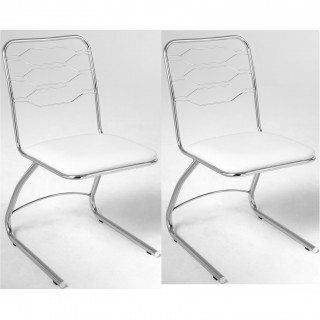 Kit 2 pçs de Cadeira de Jantar Cromada CA8240 - Pozza