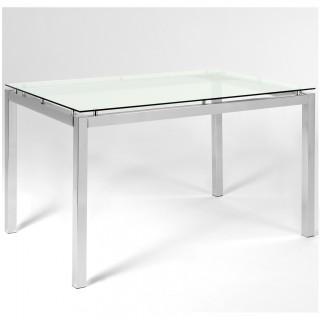 Mesa de Jantar Retangular Plus Vidro Incolor MP3067  - Pozza