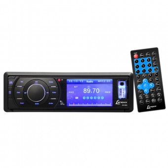 Autorrádio FM e CD Player, DVD, USB, cartão SD e MP3 AD2603 Lenoxx
