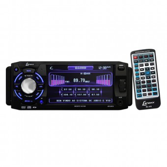 Autorrádio FM, DVD, USB, cartão SD e MP3 AD2610 Lenoxx