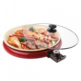 Multi Grill Ceramic Pan GRL350 Vermelho 127V Cadence